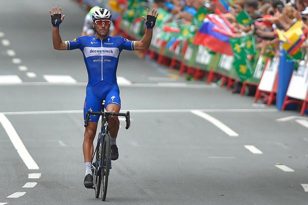 Philippe Gilbert wint twaalfde etappe van de Vuelta in Bilbao