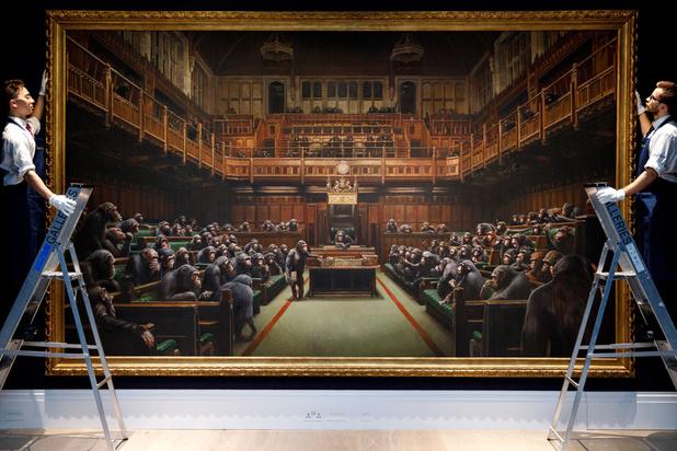 Le Parlement des singes de Banksy vendu pour un montant record