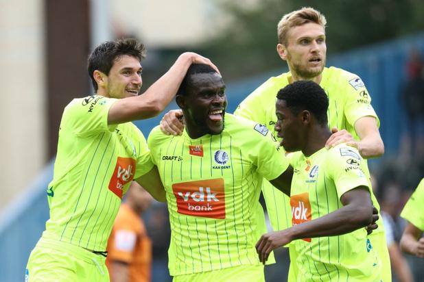Charleroi en AA Gent delen de punten op eerste speeldag