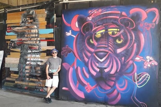 """Streetartkunstenaar CeePil verovert Gent: """"Mijn werk is vaak dubbel gelaagd"""""""