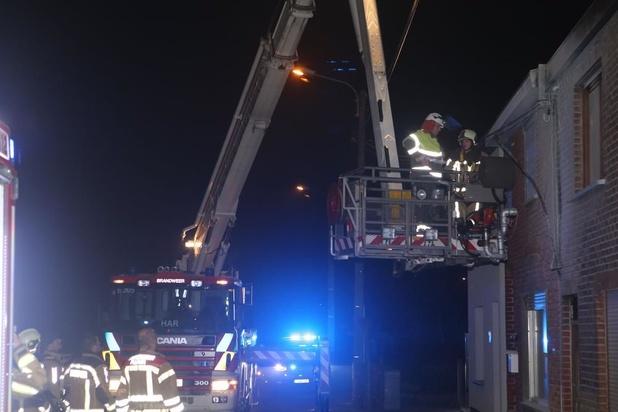 Elektriciteitskast veroorzaakt brand in Bavikhove