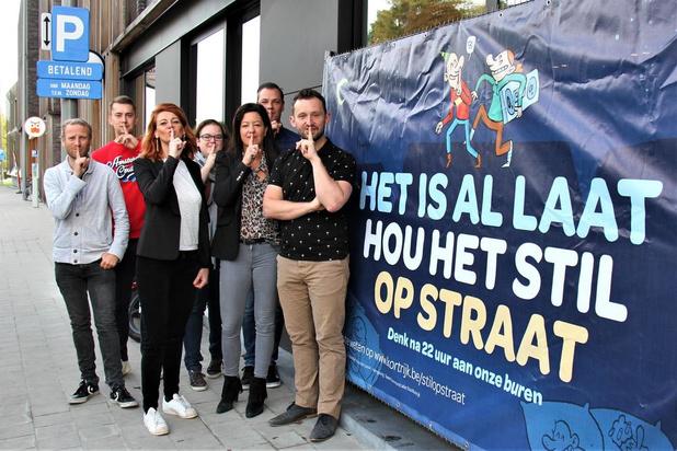 Stad Kortrijk pakt uit met de campagne 'Het is al laat. Hou het stil op straat'