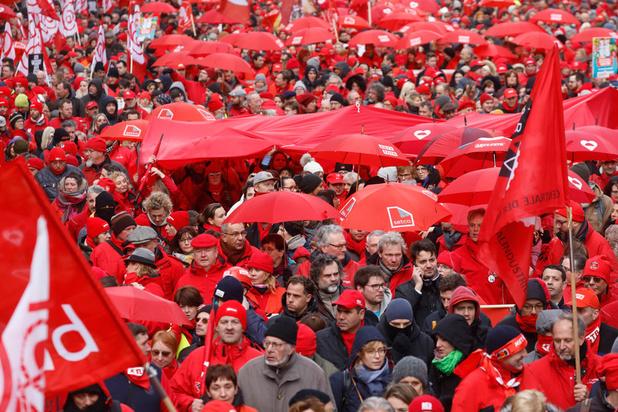 Manifestation à Bruxelles: 10.000 manifestants