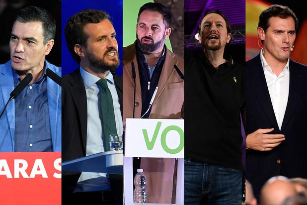 Espagne: les cinq principaux candidats aux élections