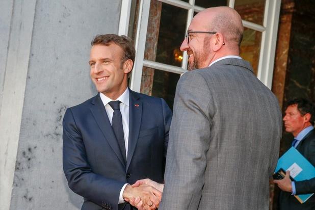 Macron: 'Charles Michel mag legitieme Europese ambities koesteren'