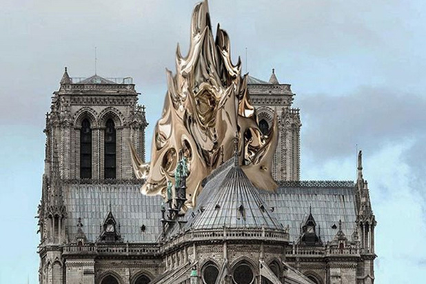 """Les propositions des """"starchitectes"""" pour la reconstruction de Notre Dame (En images)"""