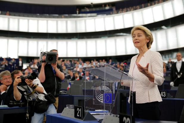 Von der Leyen: 'Europa moet tegen 2050 het eerste klimaatneutrale continent in de wereld worden'