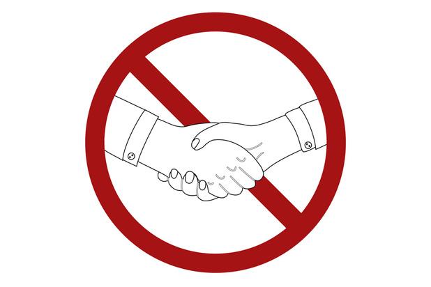 Pour cause de coronavirus, les poignées de main seront interdites à la fin du mois de février!
