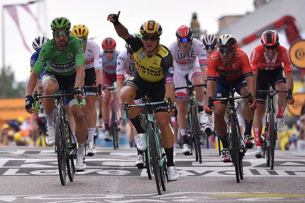 Tour de France: Dylan Groenewegen remporte la 7e étape à Chalon-sur-Saône