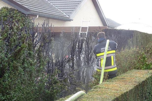 Electro weeder zet haag in de vlammen in Ruiselede