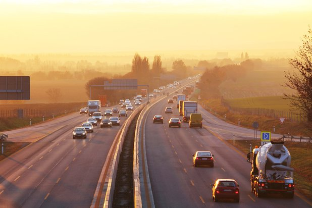 Circulation dense sur les routes de France