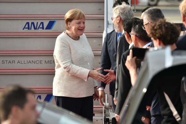 Angela Merkel aangekomen op G20-top na ongerustheid over gezondheid