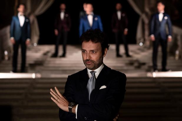 Défilé inhabituel et mouillé pour le styliste Stefano Ricci à Venise