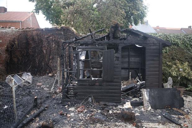 Tuinhuizen in rook op en twee woningen beschadigd bij felle brand