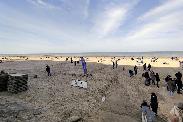 L'affluence est restée raisonnable dimanche à la Côte belge