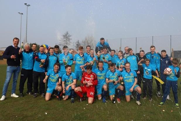 Jonge Diksmuidse B-ploeg viert titel in vierde provinciale A