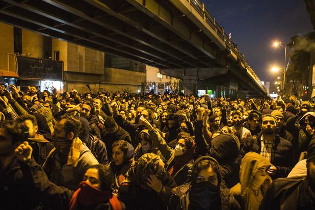 Opnieuw protest tegen Iraanse leiders na neerhalen vliegtuig