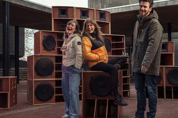 Eva De Roo, Joris Brys en Fien Germijns presenteren Music For Life, Zwangere Guy en Balthazar treden op