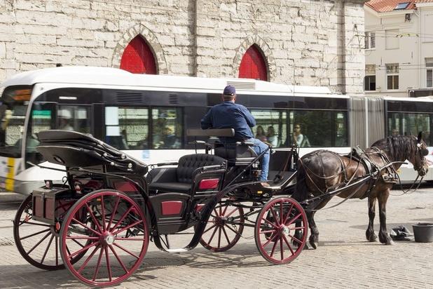 Fin des calèches touristiques à Gand dès 2020