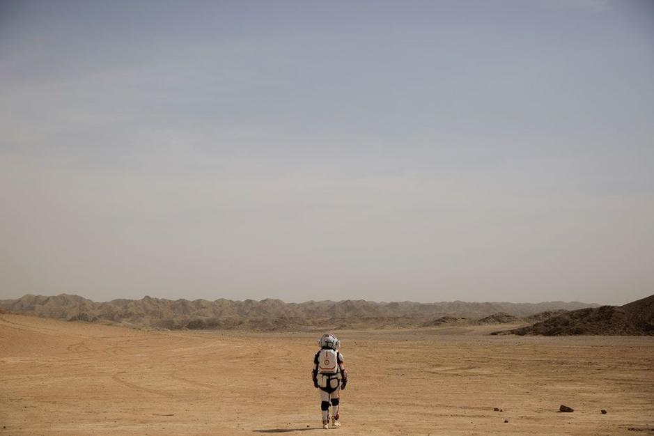 In beeld: naar de planeet Mars in de Chinese woestijn