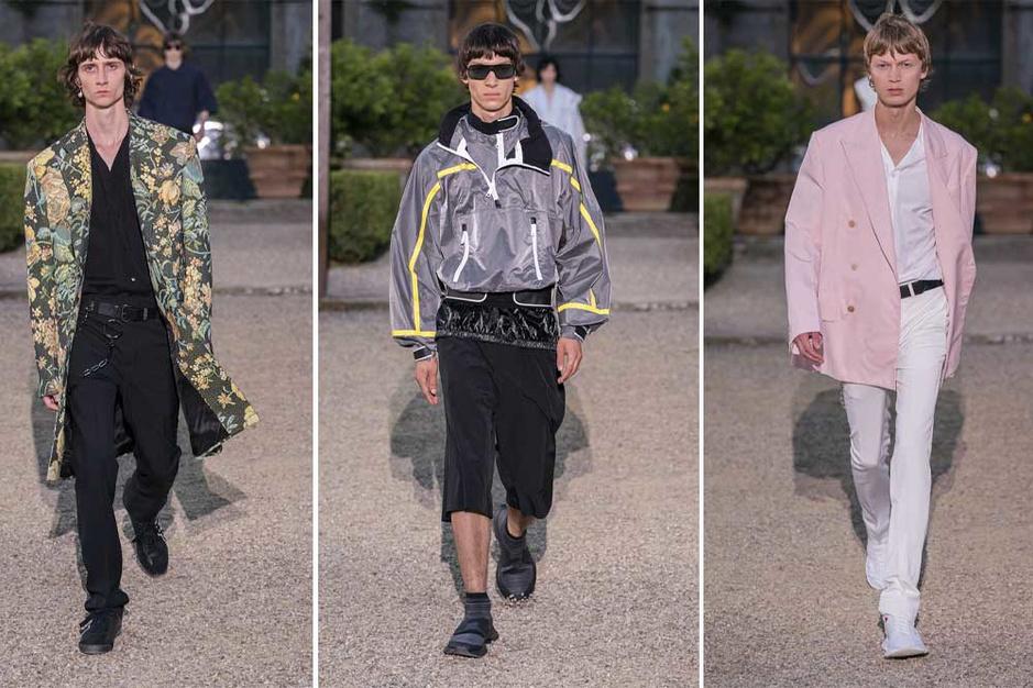 Clare Waight Keller showt mannenlijn Givenchy: 'We hebben de oude en de nieuwe wereld gecombineerd'