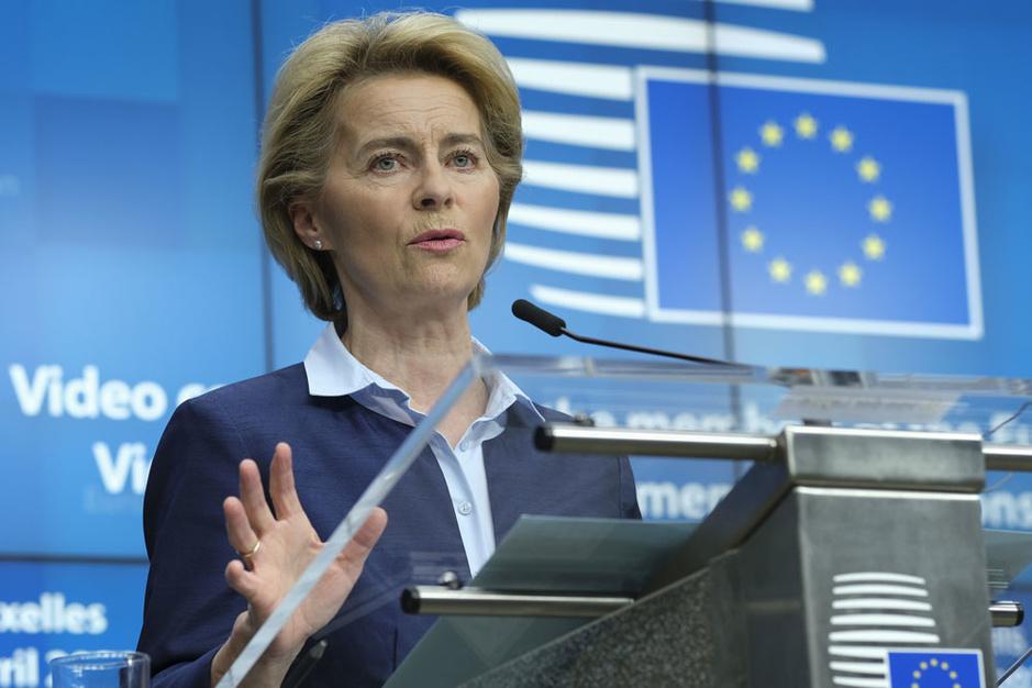 Von der Leyen zet krijtlijnen Europees herstelfonds uit