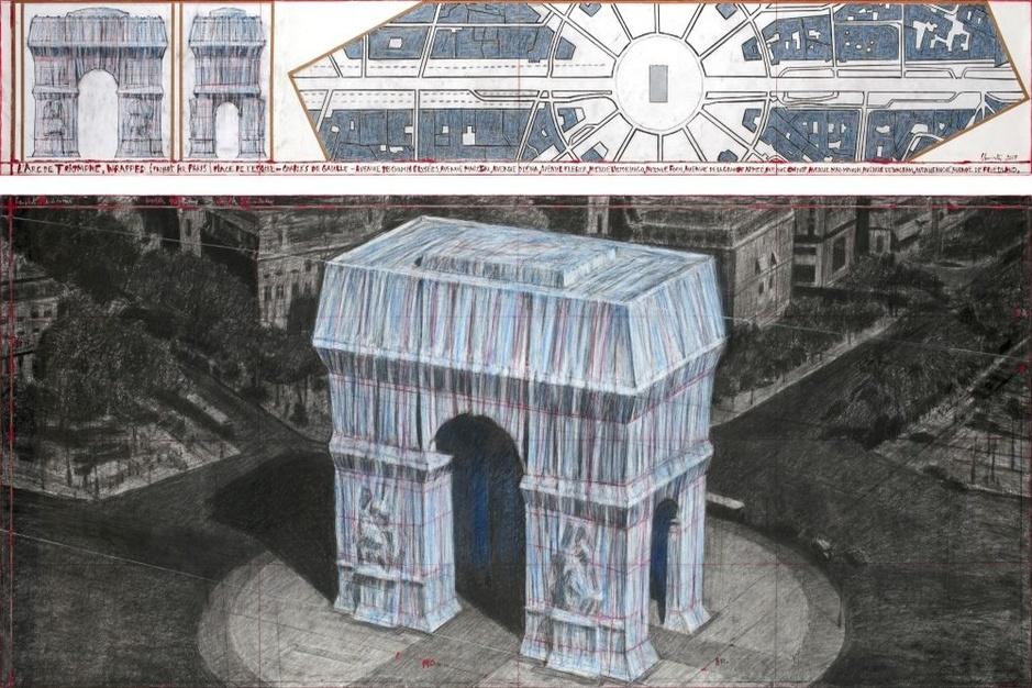 Christo gaat de Arc de Triomphe in Parijs inpakken
