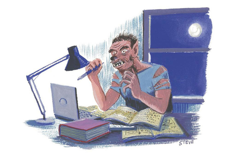 Factcheck: 'Een nachtje blokken geeft je lagere punten'