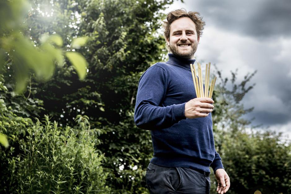 Jonge ondernemer Tibbe Verschaffel zet bamboe rietjes in de markt: 'Ik wil een echt grote impact hebben'