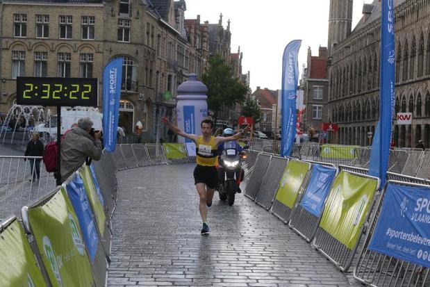 Joris Moeyaert wint 21ste In Flanders Fields Marathon