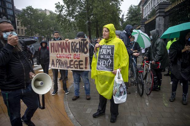 Solidariteitsactie voor hongerstakers in Gent en Brussel
