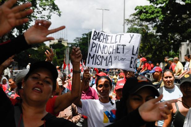 Duizenden aanhangers van Maduro protesteren tegen rapport van VN-mensenrechtencommissaris