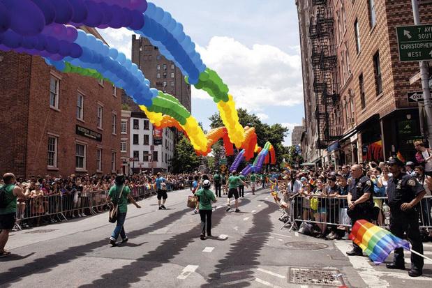 De regenboog van New York