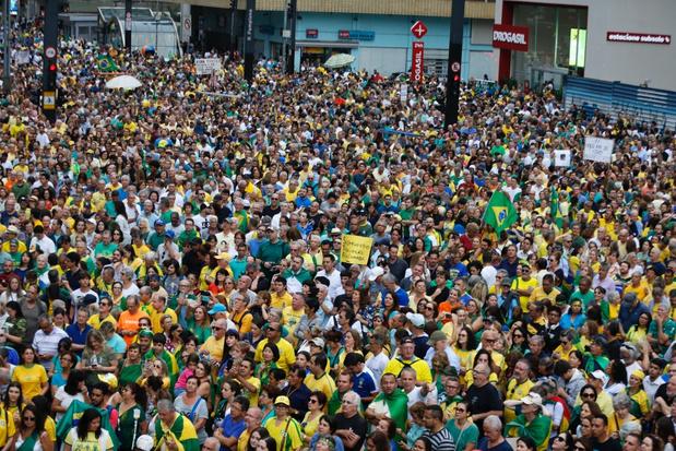 Duizenden Brazilianen protesteren tegen vrijlating van Lula