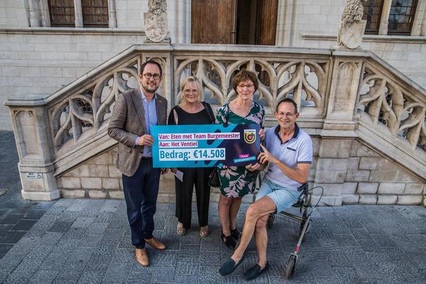Eetfestijn Team Burgemeester brengt 14.508 euro op voor Het Ventiel