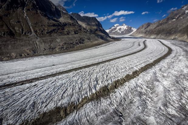Zwitserse gletsjers in vijf jaar met tien procent gekrompen