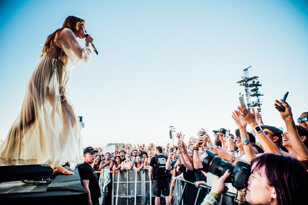 Florence + the Machine liep op Rock Werchter de 4x400 meter (en zong onderweg ook wat liedjes)