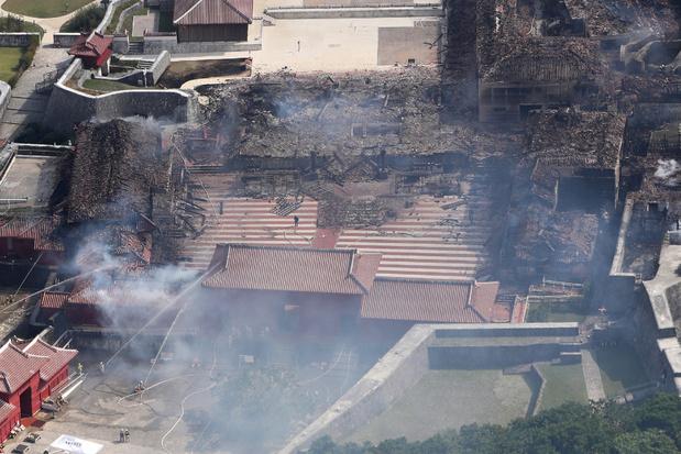 Deel van wereldberoemd Shuri-kasteel in Japan brandt af