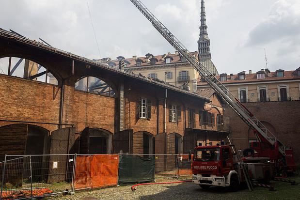 Werelderfgoed Koninklijke stallen in Turijn beschadigd door brand