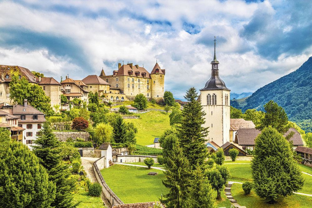 Direction les montagnes suisses, sur les traces du Gruyère...