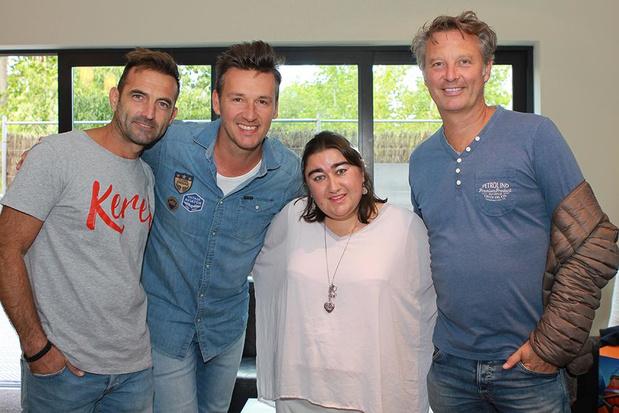 Nele Verhelst ontmoet backstage haar idolen Davy, Gunther en Chris van De Romeo's