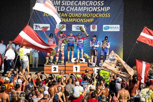Eerste Grand Prix zege voor sidecar team Dierckens/Bax in Letland