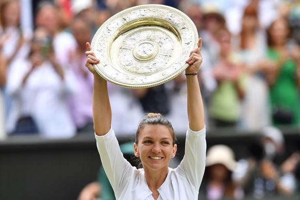 Simona Halep wint finale Wimbledon