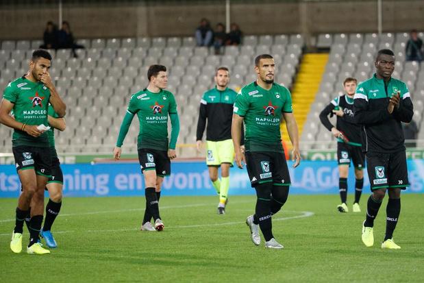 Cercle Brugge verliest belangrijke match tegen Eupen met 1-2, supportersprotest bij loges