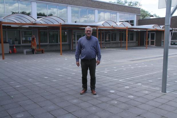Renovatie van speelplaats, turnzaal en leraarskamer in VBS Langemark