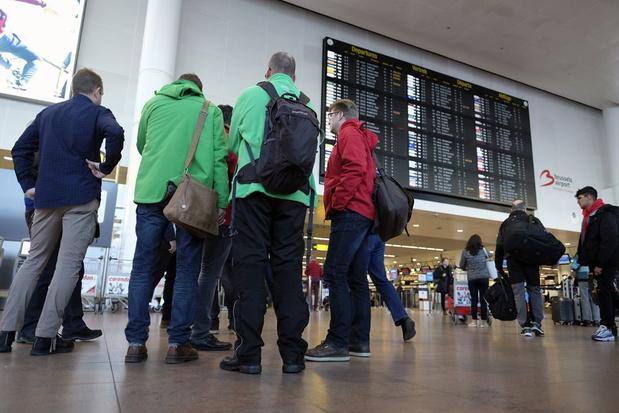 Voorlopig weinig hinder voor reizigers door stiptheidsacties Brussels Airport
