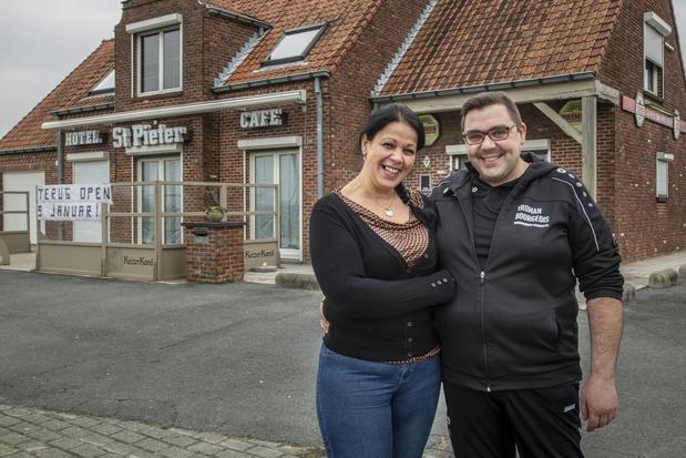 Malika en Steven zijn nieuwe uitbaters van café St.-Pieter in Ledegem