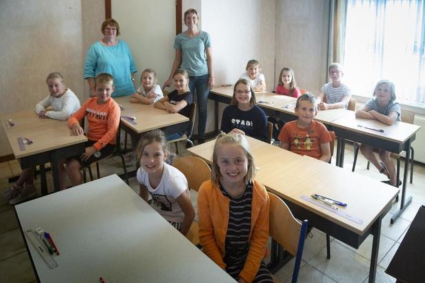Vierde leerjaar start schooljaar in de pastorij van Moorslede