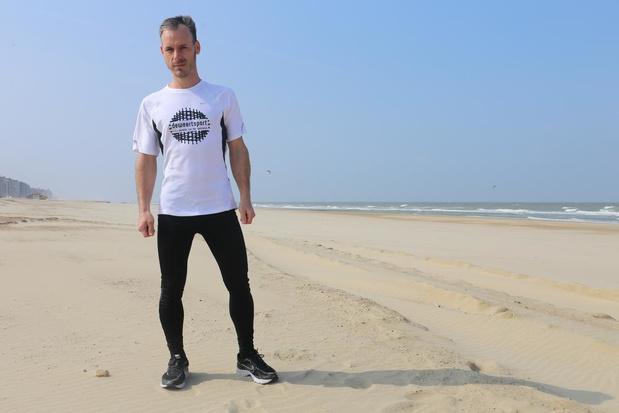 Voorzitter Proper Strand Lopers Tim Corbisier uit Oostende brengt Mare Nostrum tot goed einde