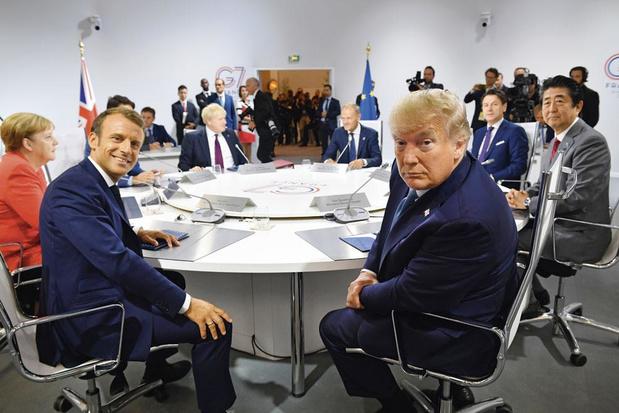 G7 in Biarritz: Macron houdt Trump aan tafel